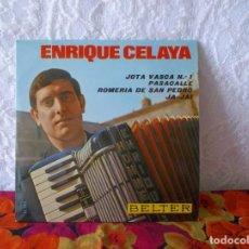 Discos de vinilo: ENRIQUE CELAYA-JOTA VASCA Nº 1-FIESTAS DE ALSASUA-ROMERÍA DE SAN PEDRO-JA-JAI. Lote 219559758