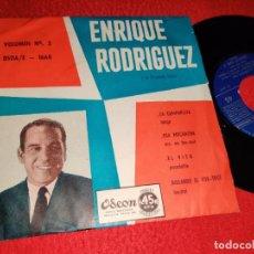 Disques de vinyle: ENRIQUE RODRIGUEZ VOL.3 LA CUMPARSITA/ESA MUCHACHA/EL VITO +1 EP ODEON 1668 ARGENTINA LATIN TANGO. Lote 262358610