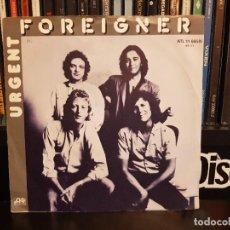 Discos de vinilo: FOREIGNER - URGENT. Lote 219611473