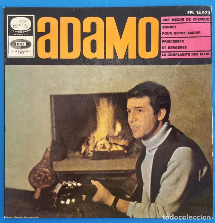 EP / ADAMO, UNE MECHE DE CHEVEUX, LA VOZ DE SU AMO ?– EPL 14.273, 1966 (Música - Discos de Vinilo - EPs - Pop - Rock Internacional de los 50 y 60)