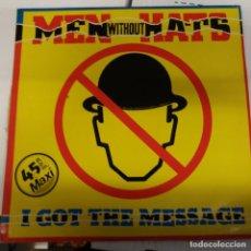 Discos de vinilo: MEN WITHOUT HATS MAXI SINGLE + LP MEN WITHOUT WOMAN. Lote 219622072