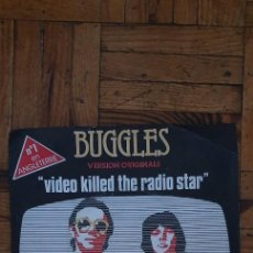 "Discos de vinil: BUGGLES – VIDEO KILLED THE RADIO STAR SELLO: ISLAND RECORDS – 6172 870 FORMATO: VINYL, 7"", 45 RPM+. Lote 219632091"