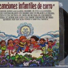 Discos de vinilo: LP. CANCIONES INFANTILES DE CORRO. Lote 219644677