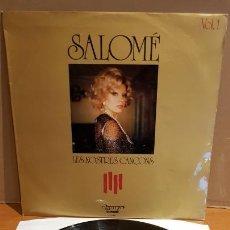 Discos de vinilo: SALOMÉ / LES NOSTRES CANÇONS / LP - OLYMPO-1974 / MBC. ***/***. Lote 219646898