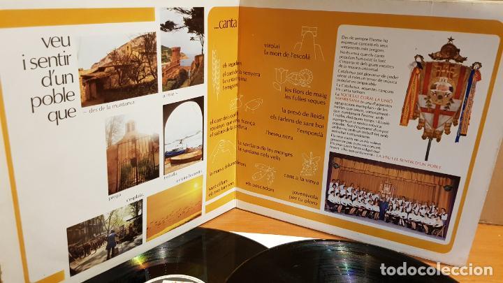 Discos de vinilo: SOCIETAT CORAL LA UNIÓ MANRESANA / VEU I SENTIR DUN POBLE / DOBLE LP-GATEFOLD - MARFER / MBC. *** - Foto 2 - 219648967