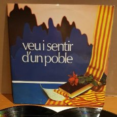 Discos de vinilo: SOCIETAT CORAL LA UNIÓ MANRESANA / VEU I SENTIR D'UN POBLE / DOBLE LP-GATEFOLD - MARFER / MBC. ***. Lote 219648967