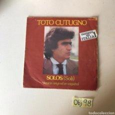 Discos de vinilo: TOTO CUTUGNO. Lote 219649596