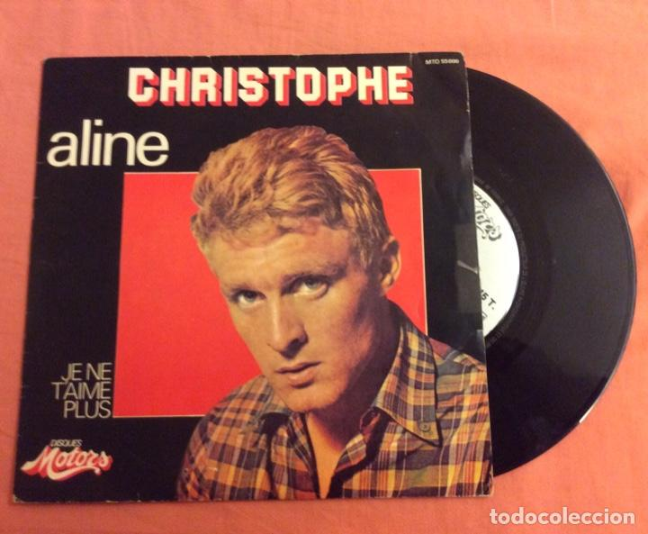 SINGLE. CHRISTOPHE. ALINE. JE NE T'AIME PLUS. DISQUES MOTORS 1979 (Música - Discos - Singles Vinilo - Canción Francesa e Italiana)