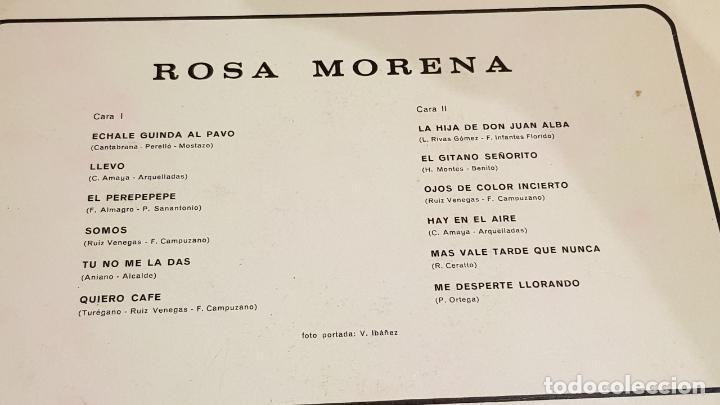 Discos de vinilo: ROSA MORENA / MISMO TÍTULO / LP - BELTER-1971 / MBC. ***/*** - Foto 3 - 219685568