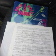 Disques de vinyle: ROCK & ROLL RADIO-VERSIONES ORIGINALES-DOBLE LP-LED ZEPPELIN, RAMONES, REM, ALICE COOPER, THE KINKS,. Lote 219696108