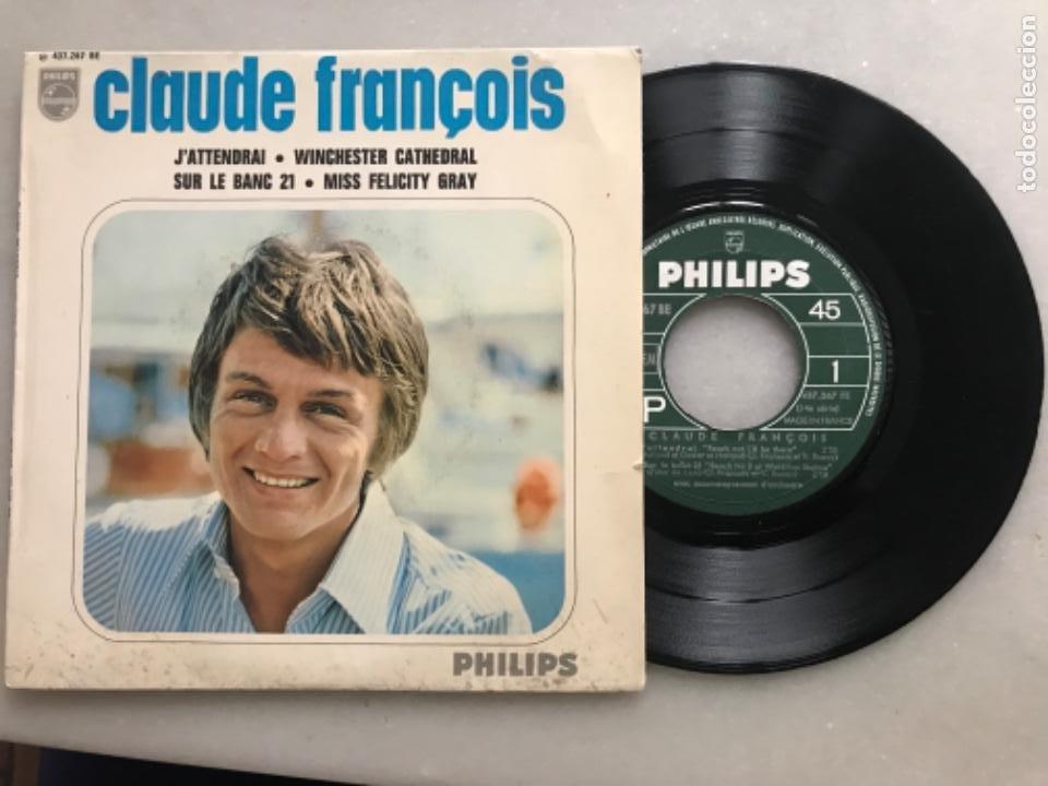 DISCO SINGLE CLAUDE FRANCOIS, J'ATTENDRAI (Música - Discos de Vinilo - Maxi Singles - Canción Francesa e Italiana)