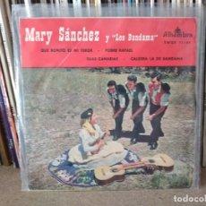 Discos de vinilo: MARY SANCHEZ Y LOS BANDAMA QUE BONITO ES MI TEROR / POBRE RAFAEL / ISLAS CANARIAS...EP 1959. Lote 219722772