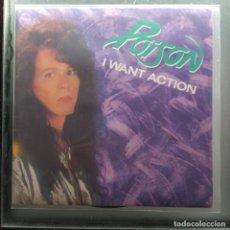 """Discos de vinilo: POISON - I WANT ACTION (7"""", SINGLE, POSTER) (ENIGMA RECORDS) 1D-330 (D:VG+). Lote 219737556"""