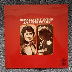 Discos de vinilo: AMANCIO PRADA - ROSALÍA DE CASTRO. EDITADO POR MOVIEPLAY. AÑO 1.975. CARÁTULA DOBLE CON LETRAS. Lote 219745162