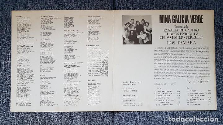 Discos de vinilo: Los Tamara - Miña Galicia verde. Editado por Marfer. año 1.97. Carátula doble - Foto 3 - 219751121