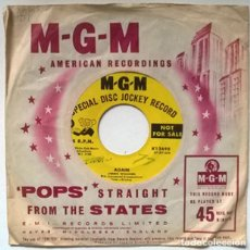 Disques de vinyle: JIMMIE WILLIAMS. AGAIN/ YOU CAN'T MAKE ME CRY. MGM, USA 1957 SINGLE PROMOCIONAL. Lote 219759453
