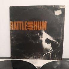 Discos de vinilo: U2. RATTLE AND HUM. ISLAN RECORDS. 1988.. Lote 219770107