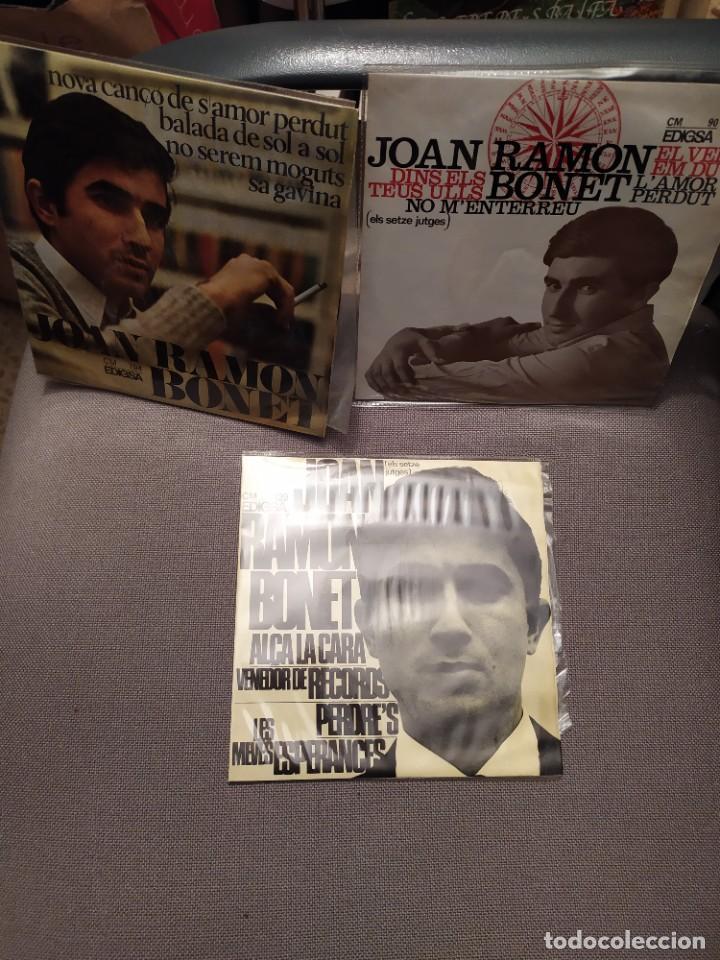 LOTE 3 DISCOS JOAN RAMON BONET , NOVA CANÇÓ, SETZE JUTGES, MALLORCA (Música - Discos de Vinilo - EPs - Solistas Españoles de los 50 y 60)