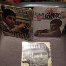 Discos de vinilo: LOTE 3 DISCOS JOAN RAMON BONET , NOVA CANÇÓ, SETZE JUTGES, MALLORCA. Lote 219825723