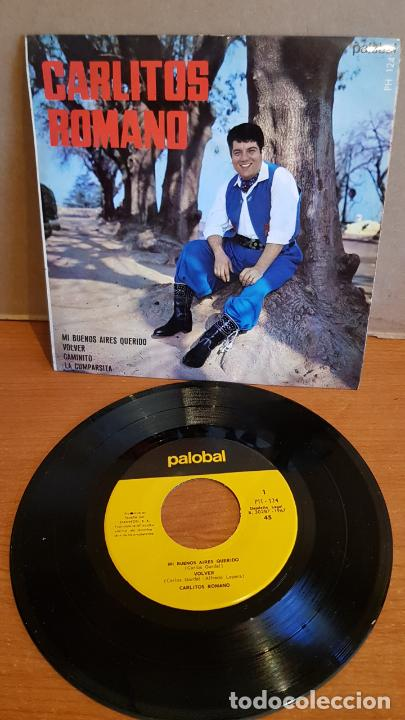 CARLITOS ROMANO / MI BUENOS AIRES QUERIDO / EP - PALOBAL-1967 / IMPECABLE. (Música - Discos de Vinilo - EPs - Grupos y Solistas de latinoamérica)