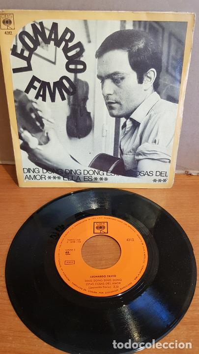 LEONARDO FAVIO / DING DONG DING DONG / SINGLE - CBS-1969 / MBC. ***/*** (Música - Discos - Singles Vinilo - Grupos y Solistas de latinoamérica)