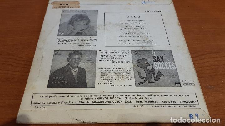 Discos de vinilo: GELU / DIME POR QUÉ ? / EP - LA VOZ DE SU AMO-1962 / MBC. ***/*** - Foto 2 - 219848228