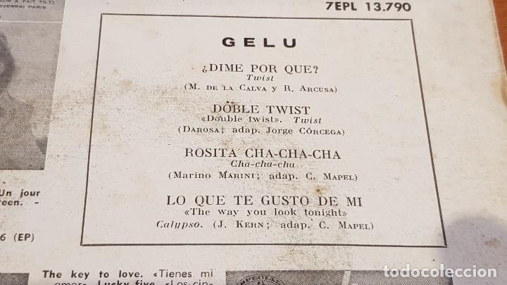 Discos de vinilo: GELU / DIME POR QUÉ ? / EP - LA VOZ DE SU AMO-1962 / MBC. ***/*** - Foto 3 - 219848228