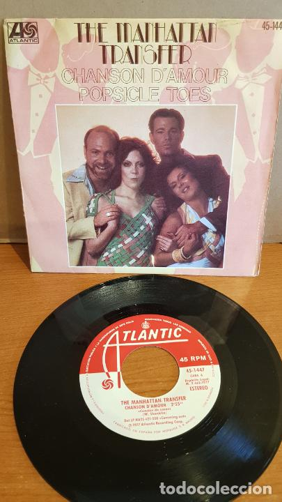 THE MANHATTAN TRANSFER / CHANSON D'AMOUR / SINGLE - ATLANTIC-1977 / MBC. ***/*** (Música - Discos - Singles Vinilo - Funk, Soul y Black Music)