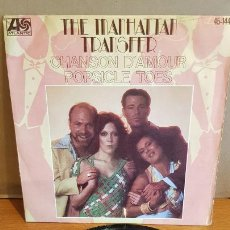Discos de vinilo: THE MANHATTAN TRANSFER / CHANSON D'AMOUR / SINGLE - ATLANTIC-1977 / MBC. ***/***. Lote 219848747