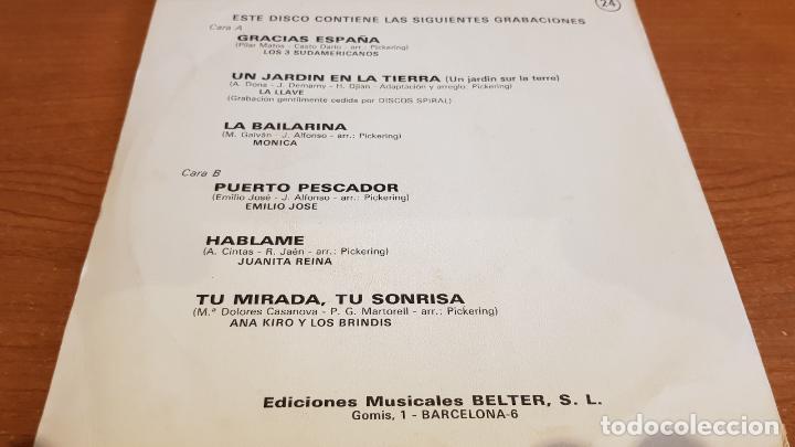 Discos de vinilo: DISCO DEMOSTRACIÓN / EDICIONES MUSICALES BELTER / EP - 1971 / 33 R.P.M. / CONTIENE 6 TEMAS. MBC. *** - Foto 2 - 219849347