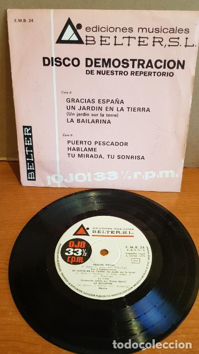 DISCO DEMOSTRACIÓN / EDICIONES MUSICALES BELTER / EP - 1971 / 33 R.P.M. / CONTIENE 6 TEMAS. MBC. *** (Música - Discos de Vinilo - EPs - Grupos Españoles 50 y 60)