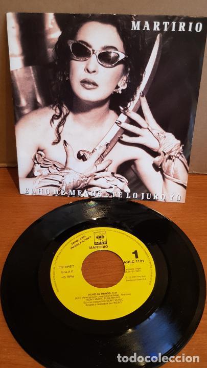 MARTIRIO / ECHO DE MENOS / SINGLE-PROMO - CBS-1991 / IMPECABLE. ****/**** (Música - Discos - Singles Vinilo - Solistas Españoles de los 70 a la actualidad)
