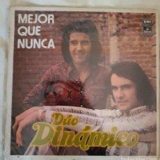 Discos de vinilo: DUO DINAMICO - MEJOR QUE NUNCA, ORIGINAL 1972, PROMOCIONAL. Lote 219850110