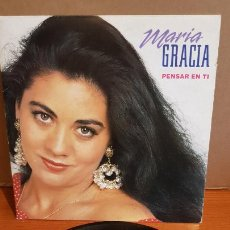 Discos de vinilo: MARÍA GRACIA / PENSAR EN TI / SINGLE - FONOMUSIC-1992 / MBC. ***/***. Lote 219850363