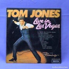 Discos de vinil: LP TOM JONES -- LIVE IN LAS VEGAS -- MADRID. Lote 219851206
