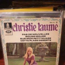 Discos de vinilo: CHRISTIE LAUME / ROUGE-ROUGE / ODEON 1967. Lote 219855672