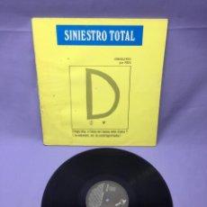 Discos de vinilo: LP SINIESTRO TOTAL -- JEROGLIFICO POR PEPO -- MADRID. Lote 219878218