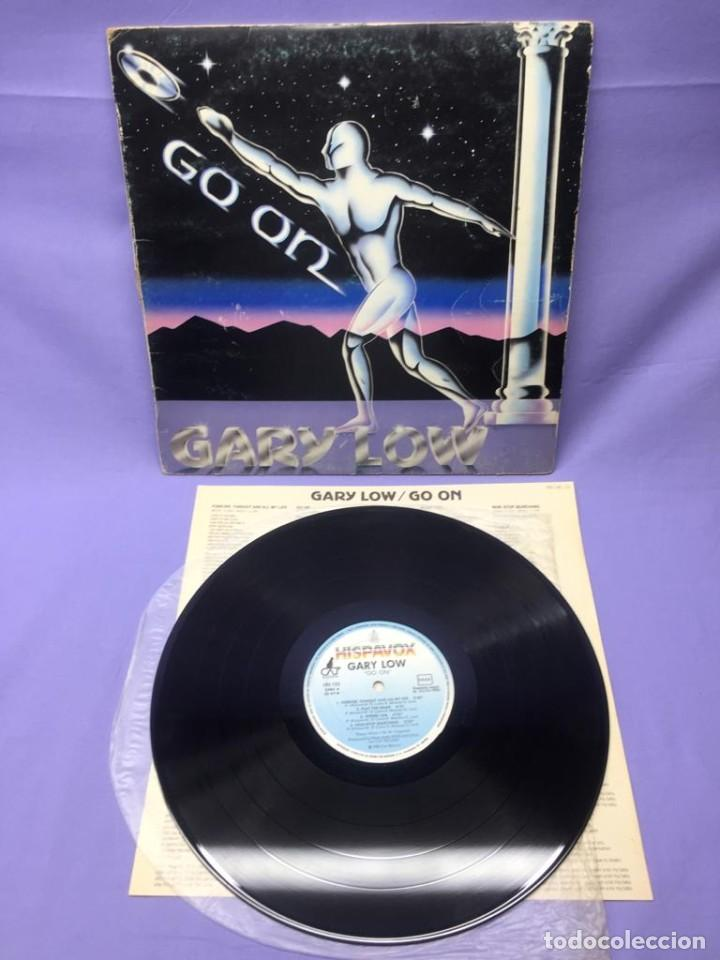 LP GARY LOW -- GO ON 1983 ESPAÑA -- VG (Música - Discos de Vinilo - EPs - Disco y Dance)