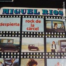 Discos de vinilo: DISCO SINGLE MIGUEL RIOS ROCK DE LA CARCEL DESPIERTA COLECCION. Lote 219961673