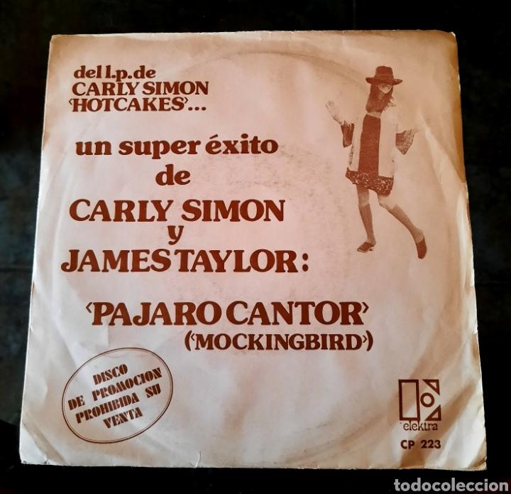 CARLY SIMON Y JAMES TAYLOR - PAJARO CANTOR (Música - Discos - Singles Vinilo - Pop - Rock - Extranjero de los 70)