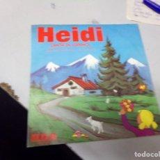 Discos de vinilo: HEIDI CANTA EN ESPAÑOL - COPO DE NIEVE Y YO , EN LA TARDE. Lote 219977217