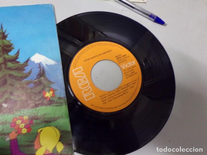 Discos de vinilo: Heidi canta en español - copo de nieve y yo , en la tarde - Foto 2 - 219977217