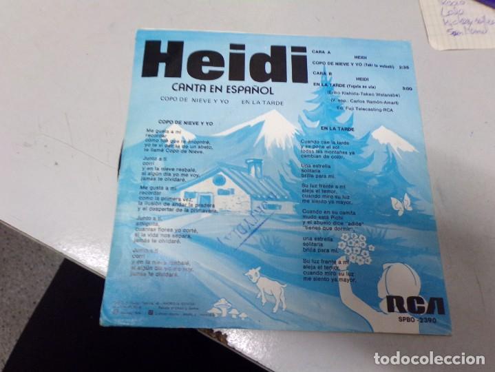 Discos de vinilo: Heidi canta en español - copo de nieve y yo , en la tarde - Foto 3 - 219977217