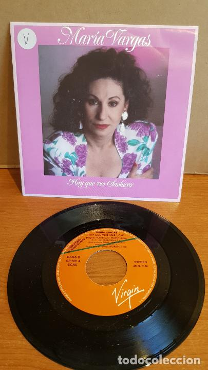 MARÍA VARGAS / HAY QUE VER SANLUCAR / SINGLE-PROMO - VIRGIN-1991 / IMPECABLE. ****/**** (Música - Discos - Singles Vinilo - Flamenco, Canción española y Cuplé)
