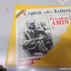 Discos de vinilo: CAPITAL LETTERS - PRESIDENT AMIN. Lote 219977652