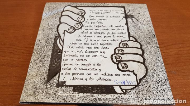 Discos de vinilo: MARINA Y LOS MAREADOS / POMPAS DE JABÓN / SINGLE-PROMO - 1993 / IMPECABLE. ****/**** - Foto 2 - 219978458