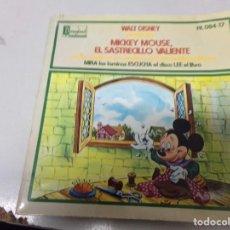 Discos de vinilo: MICKEY MOUSE EL SASTRECILLO VALIENTE. Lote 219978873