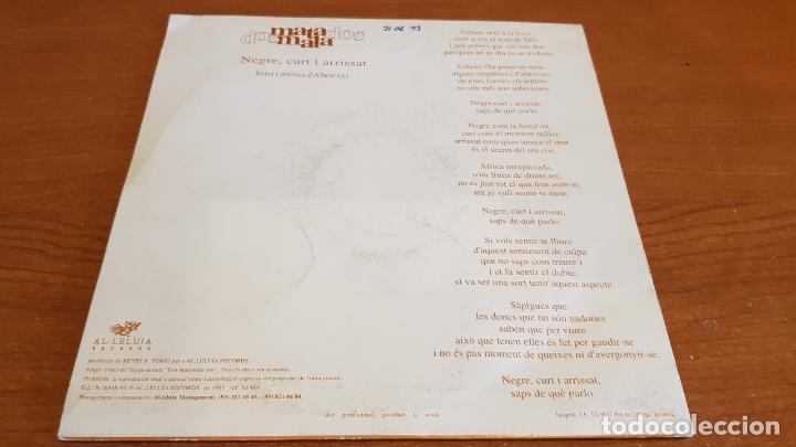 Discos de vinilo: DOS MATAMALA DOS / NEGRE CURT I ARRISSAT / SINGLE - AL·LELUIA RECORDS-1993 / SOLO 1 CARA. **** - Foto 2 - 219979522