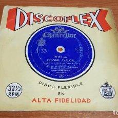 Discos de vinilo: TWIST POR FRANKIE AVALON / DISCOFLEX-HISPAVOX-1962 / MBC. ***/***. Lote 219981015