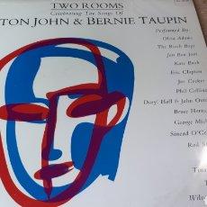 Discos de vinilo: ELTON JOHN AND BERNIE TAUPIN TWI ROOMS TEMAS POR BON JOVI, ERIC CLAPTON, THE WHO , STING 2 LPS. Lote 220067016